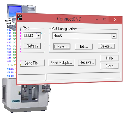 The user panel of ConnectCNC